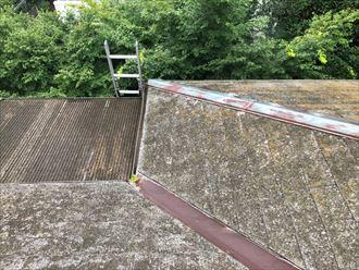 苔が少ないスレート屋根