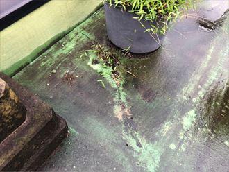 昭島市松原町で、浮いてしまったFRP防水を調査しました
