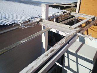 物置小屋の屋根修繕