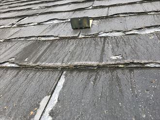 江戸川区上篠崎で令和元年東日本台風のご被害で雨樋が破損、火災保険で足場工事となりますので屋根工事も同時に施工します
