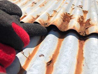 新宿区西新宿で錆びたトタン屋根の調査を行いました