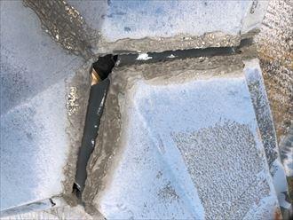 昭島市福島町で太陽光パネルの乗った屋根を調査しました