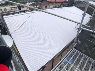 サーモアイSiで塗装したトタン屋根