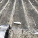 漆喰が剥がれ屋根に落下