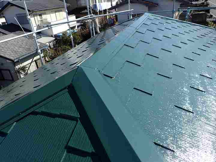 サーモアイでの屋根塗装工事完了