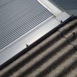 波形スレートへの屋根カバー