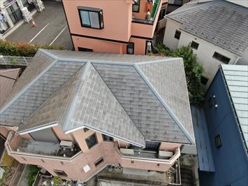 府中市南町で梯子が架けられない屋根の調査はドローンを飛ばします