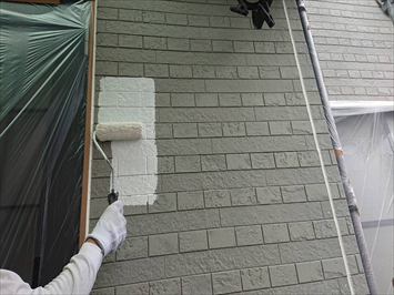 八王子市中野町でパーフェクトトップでサイディング張りの外壁塗装工事