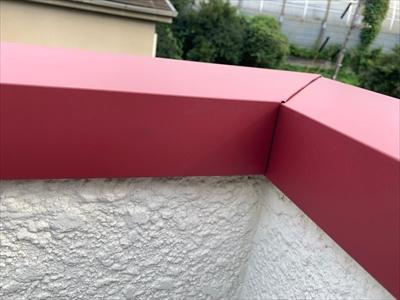 ガルバリウム鋼板での笠木交換