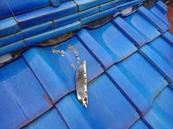 漆喰の剥がれは棟が崩れる原因になります
