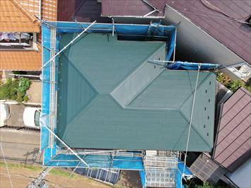 葛飾区東金町でコロニアル屋根にスーパーガルテクトでカバー工事を行いました
