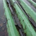 折板屋根から雨漏り