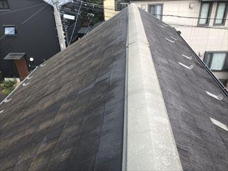 苔の生えたコロニアルの屋根