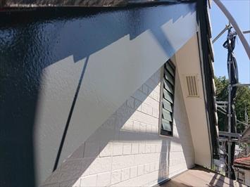 塗装した破風板