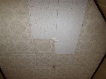 2F天井雨漏り修復跡