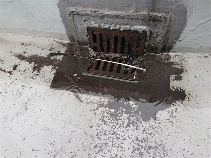 以前に直した排水口