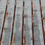 かなり錆が進行したトタン屋根