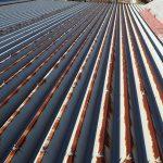 折板屋根からの雨漏り調査