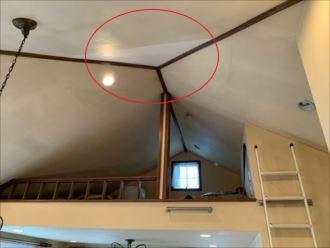 補修済みの天井ボード