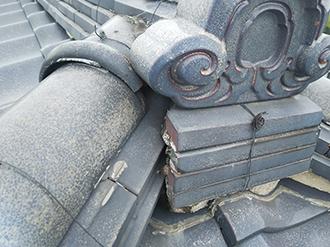 瓦屋根は棟に注意