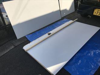ケイカル板を使用して軒修繕工事
