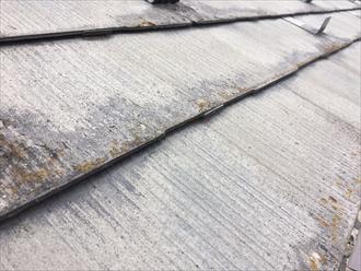 品川区大井で傷んだスレート屋根を点検、ボロボロに見えたのは塗膜が剥がれていたからです