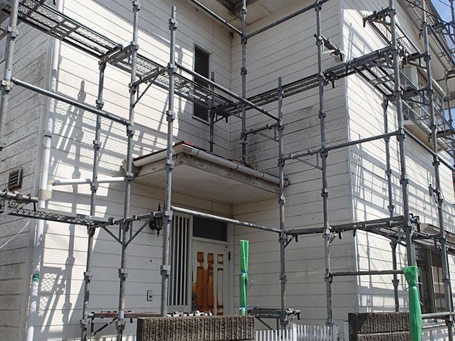 大田区鵜の木で外壁・屋根塗装、足場仮設時にやっておきたいメンテナンス
