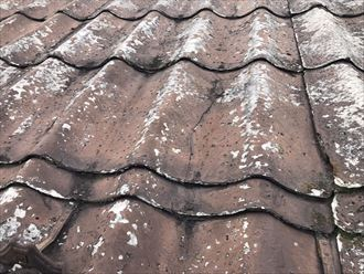 かわらUの屋根のひび割れ