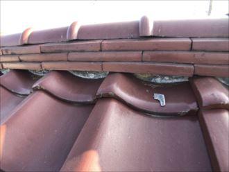 練馬区大泉学園町の瓦屋根は漆喰の劣化が見られました
