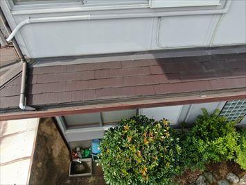 ドローン撮影下屋根