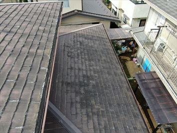 ドローン撮影下屋根大部分
