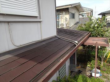 小下屋根の様子