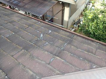下屋根の破損