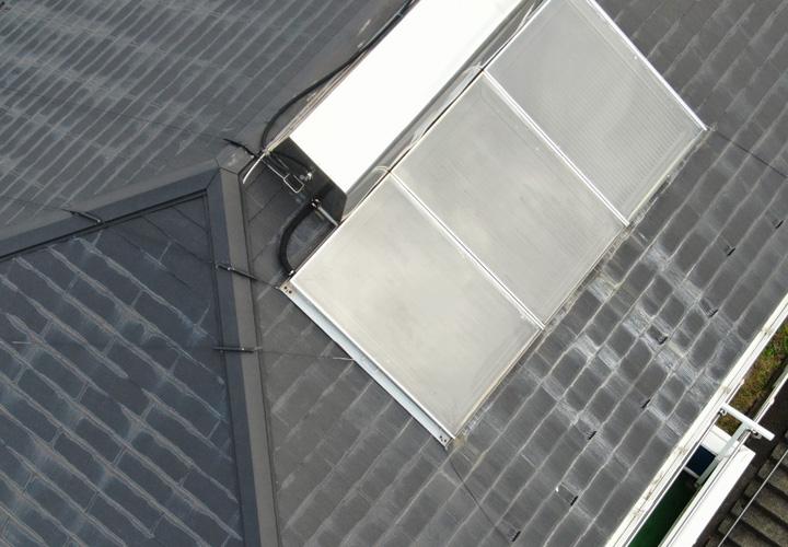 屋根上空からの写真