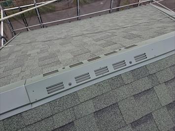 町田市西成瀬で瓦屋根からアスファルトシングルへの葺き替え工事が完成します