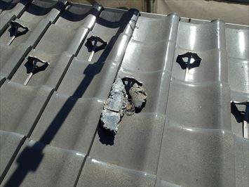 足立区中川で他社に不具合を指摘された瓦屋根の調査に伺いました