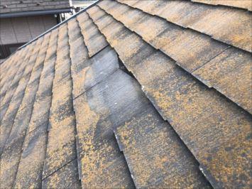 屋根材が抜け落ちた
