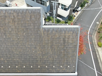 ドローンを使い撮影した屋根