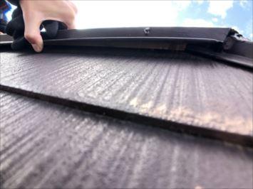 稲城市平尾にて屋根の点検、棟板金が浮いていました