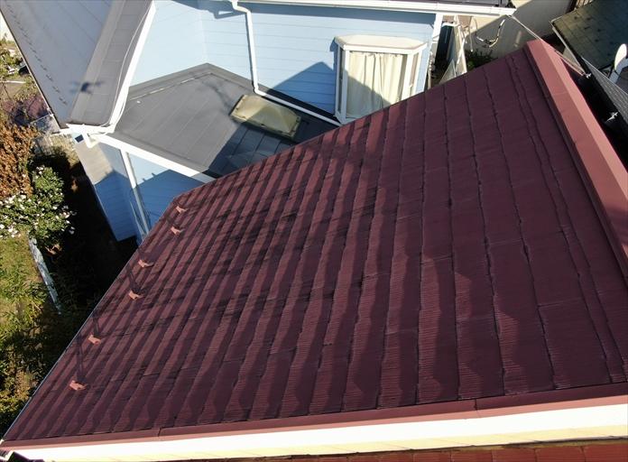 過去に塗装しているスレート屋根の点検