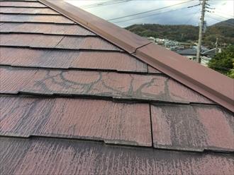 品川区小山の点検で分かったスレートの傷み、ひび割れが多くて塗装が難しい状態でした