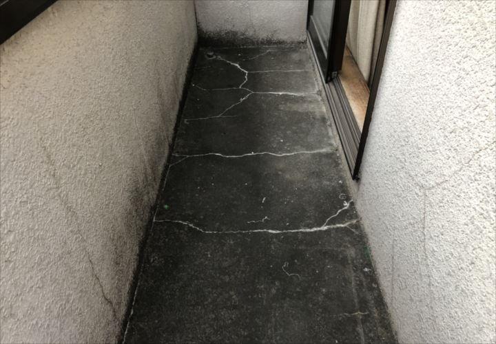 国分寺市富士本でバルコニーの劣化を調査しました