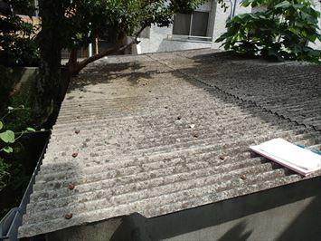 ガレージ小波スレート屋根