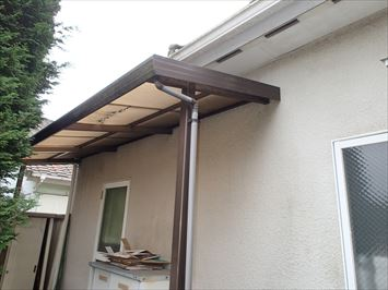 テラス屋根破損