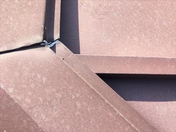 練馬区土支田にて棟板金の浮きを指摘されたお宅の調査を行いました