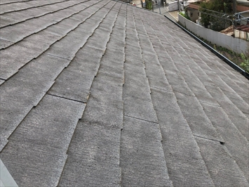 屋根全体で劣化が見られます