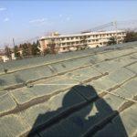 屋根材の先端の塗装が剥がれている