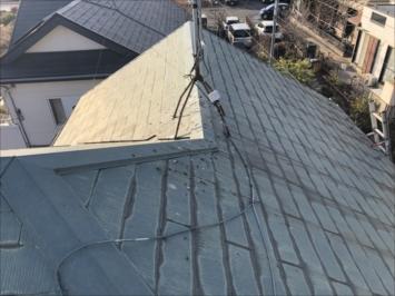 アスベスト入りのスレート屋根
