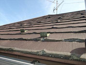 足立区保木間で築18年の屋根調査に伺うとパミールAの屋根でした
