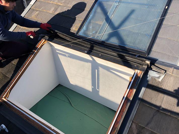 荒川区町屋で屋根の天窓撤去後の内装天井新設工事を行いました